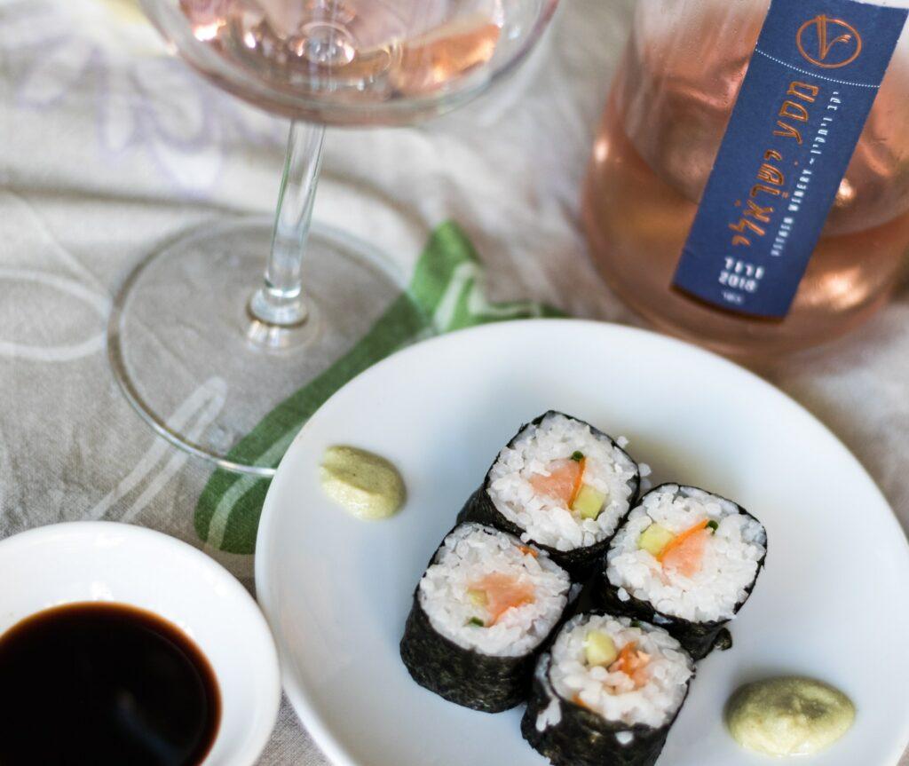 Wino do sushi - różowe - blog gastronomiczny Bidfood Farutex